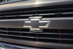 Chevy Silverado Carbon Fiber Grill Wrap
