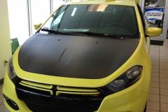 Dodge Dart Carbon Fiber Hood Wrap